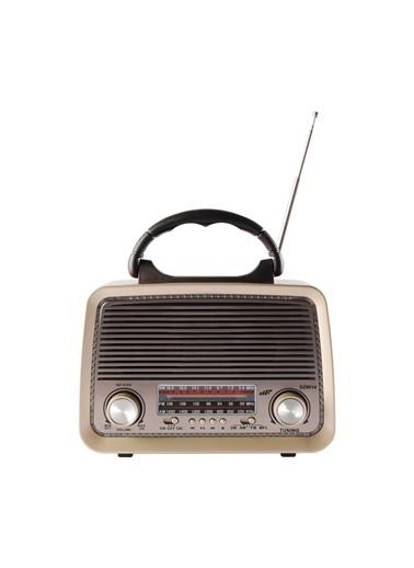 MF Product MF Product Acoustic 0189 Retro Kablosuz Radyolu Bluetooth Hoparlör Kırmızı Kırmızı